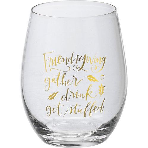 Thanksgiving Stemless Wine Glasses