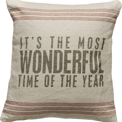 It's The Most Wonderful Time Pillow