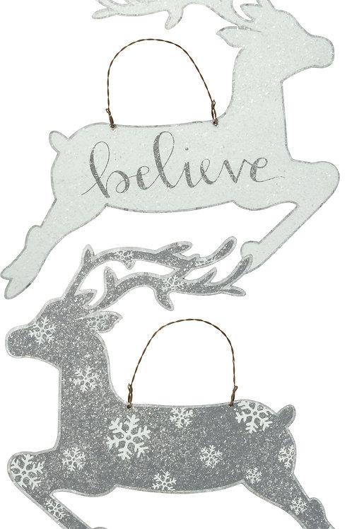 Believe Hanging Reindeer