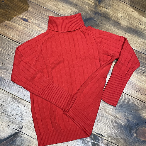 """LOL"" Red Turtleneck Sweater"