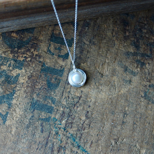 One Egg Nest Necklace