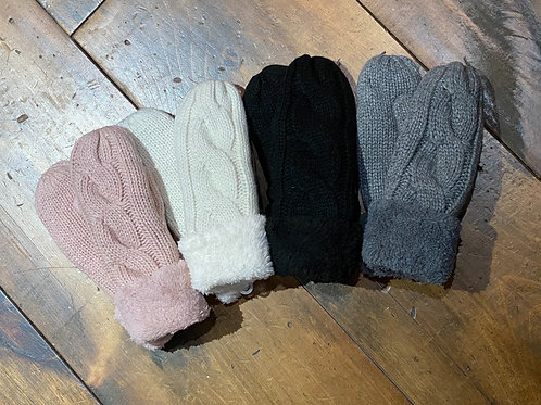 Lined Knit Mittens