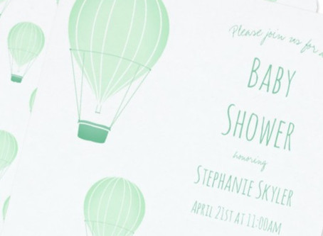 The sky's the limit: Your hot air balloon baby shower