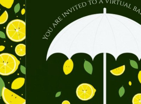 Grab your umbrella - It's a Virtual Lemon Baby Shower