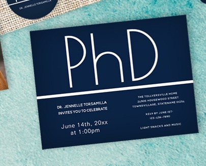 Have a PhD Graduation party