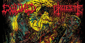 [Review] Exhumed and Gruesome Tag-Team a 'Twisted Horror' Split with Graphic Results