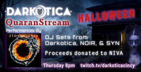 Stoneburner to Join Darkotica For Hallo-Stream Event on October 29