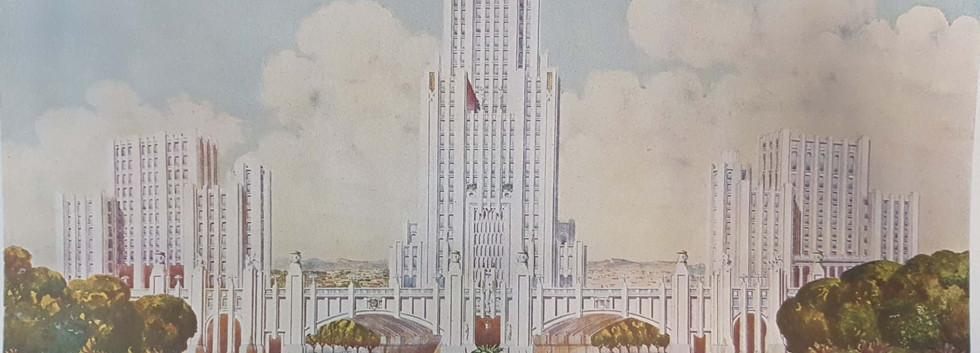 Viaduto de São Francisco e Paço Municipal (estudo)