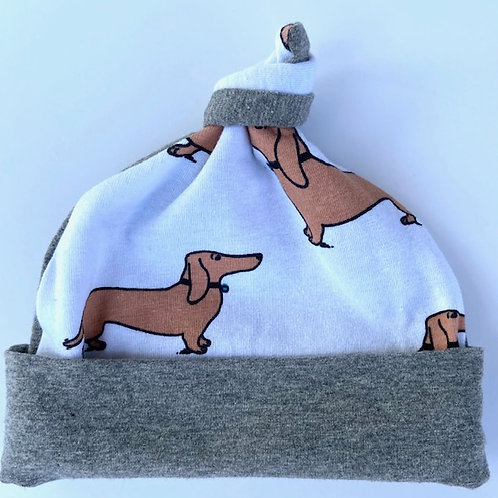 Wiener Dog Knotted Hat