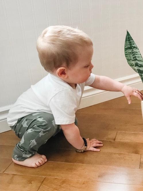 Sage Dino BumPants