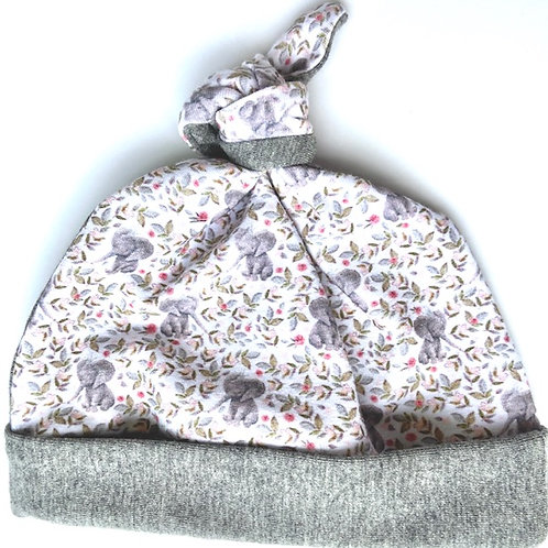 Baby Elephants Newborn Knotted Hat