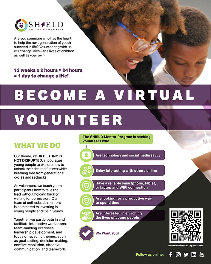 SHIELD Volunteer Flyer