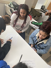 SHIELD volunteers mentoring.