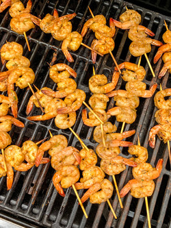Blackened Hawaiian Shrimp skewers