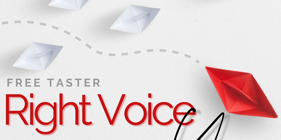 Right Voice For You Free Taster