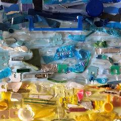'Recycled Beach Litter'
