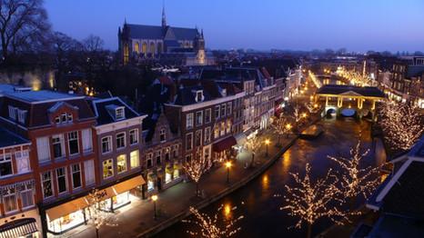 Nieuwe Rijn by night
