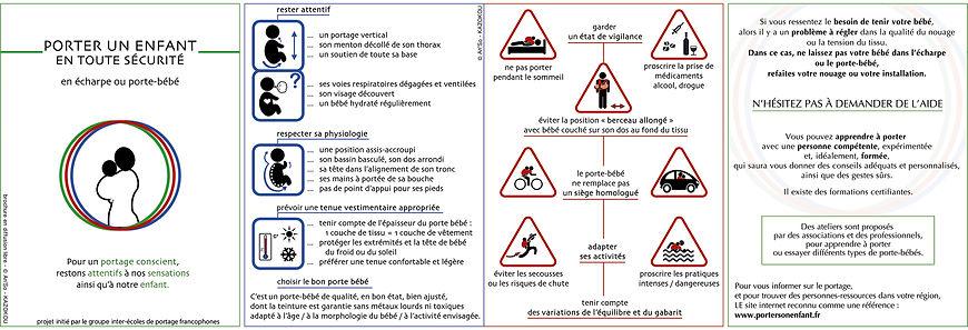 Guide des consignes de sécurité en portage physiologique