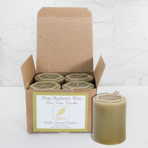 Bayberry 18hr Votives- Box of 4