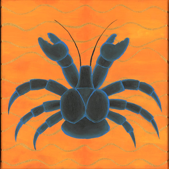 """ayuyu   coconut crab"" print"