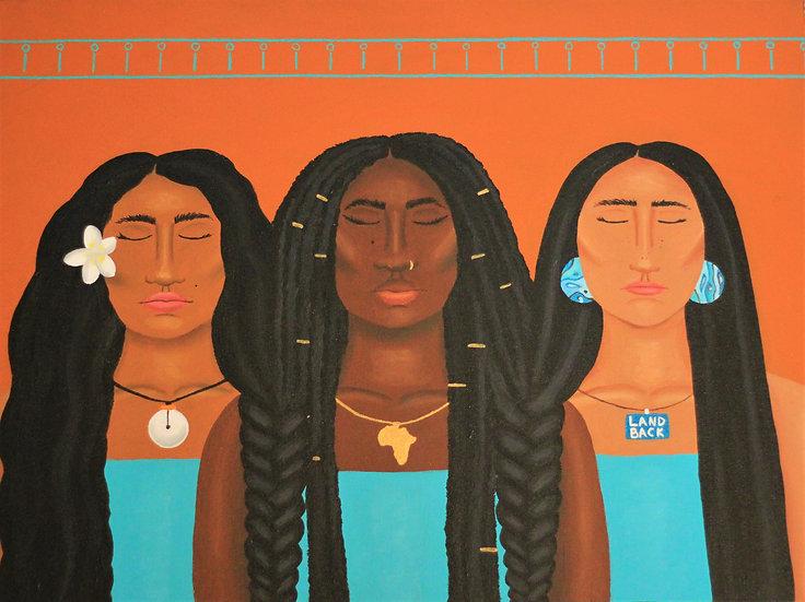 """decolonial sisterhood"" print"