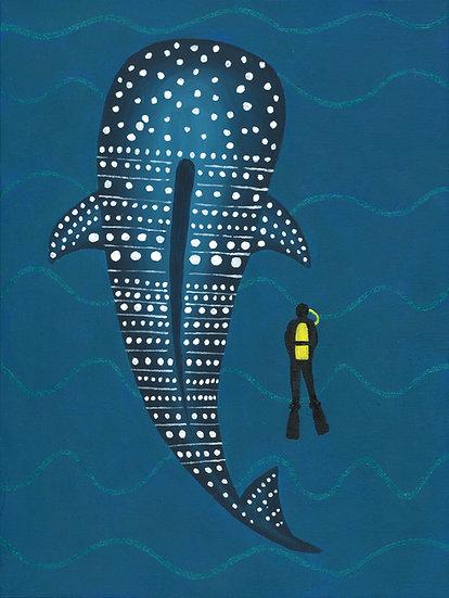 """whale shark"" print"
