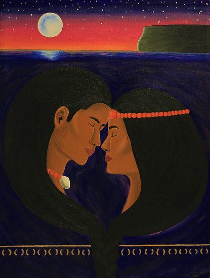"""""""i dos umaguaiya   the two lovers"""" print"""