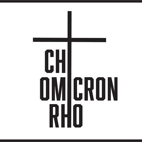 Chi Omicron Rho Decal