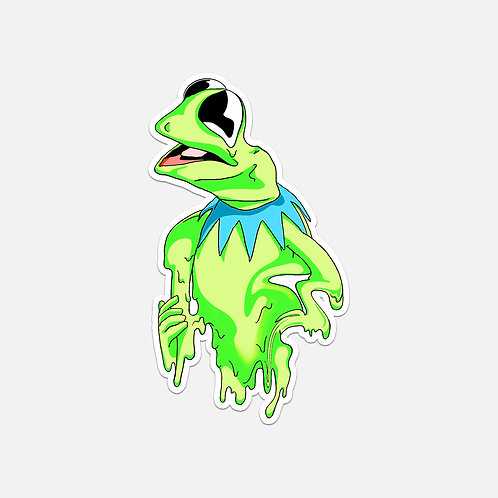 Melting Kermit Sticker