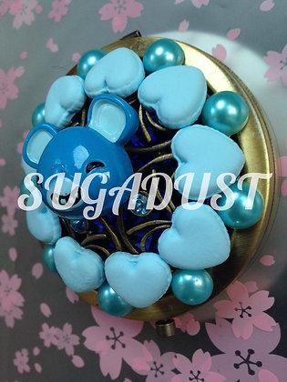 Blue Hearts Blue Pearls Mirror