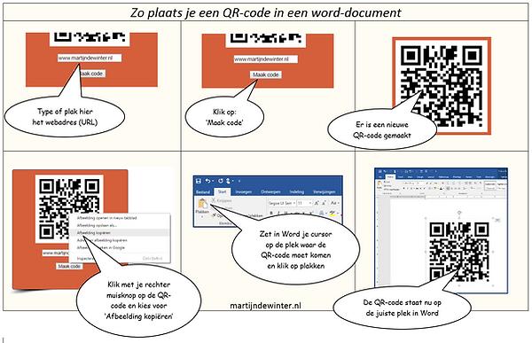 Zo plaats je een QR-code in een Word document | Martijn de Winter