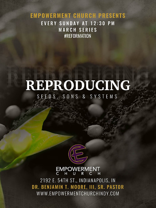 March 2019 Series: Reproducing Seeds, Sons & Systems (CD Series)