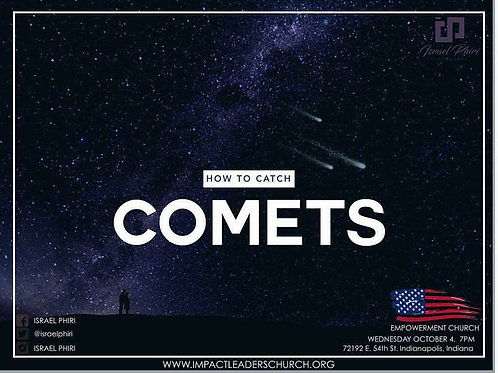 How to Catch a Comet ( by Pastor Israel Phiri) - DVD
