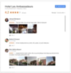 Avis Google sur l'hôtel et appart hotel les Ambassadeurs Marrakech