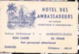Histoire de l'hôtel les Ambassadeurs   Notre histoire