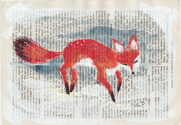 Red Fox A5 Print