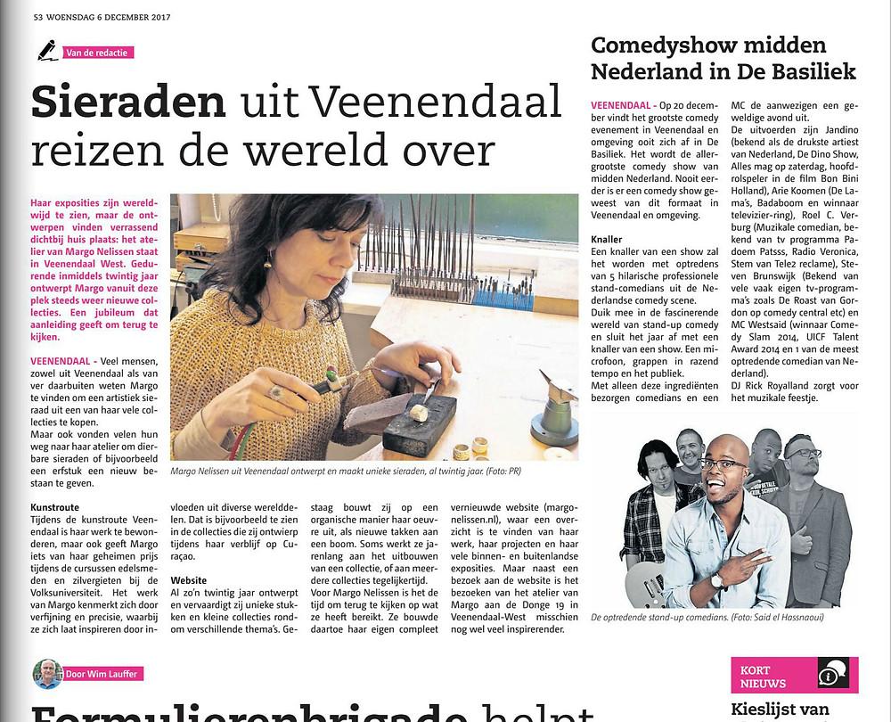Jubileum Margo Nelissen in de Rijnpost