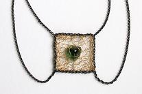 collier amulet toermalijn