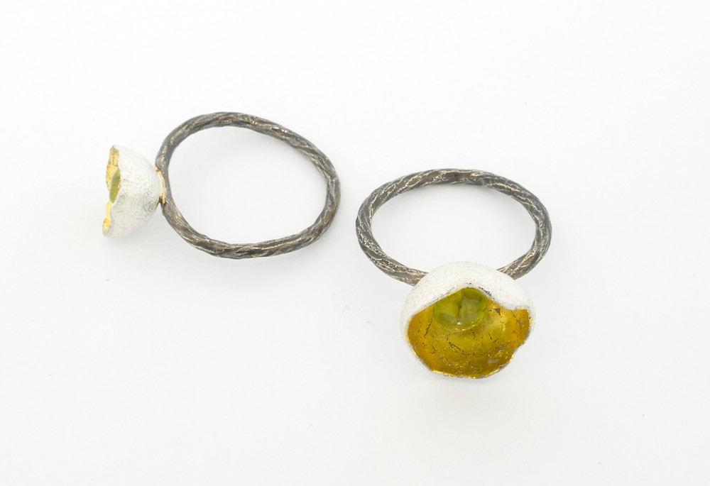 chalice rings with peridot