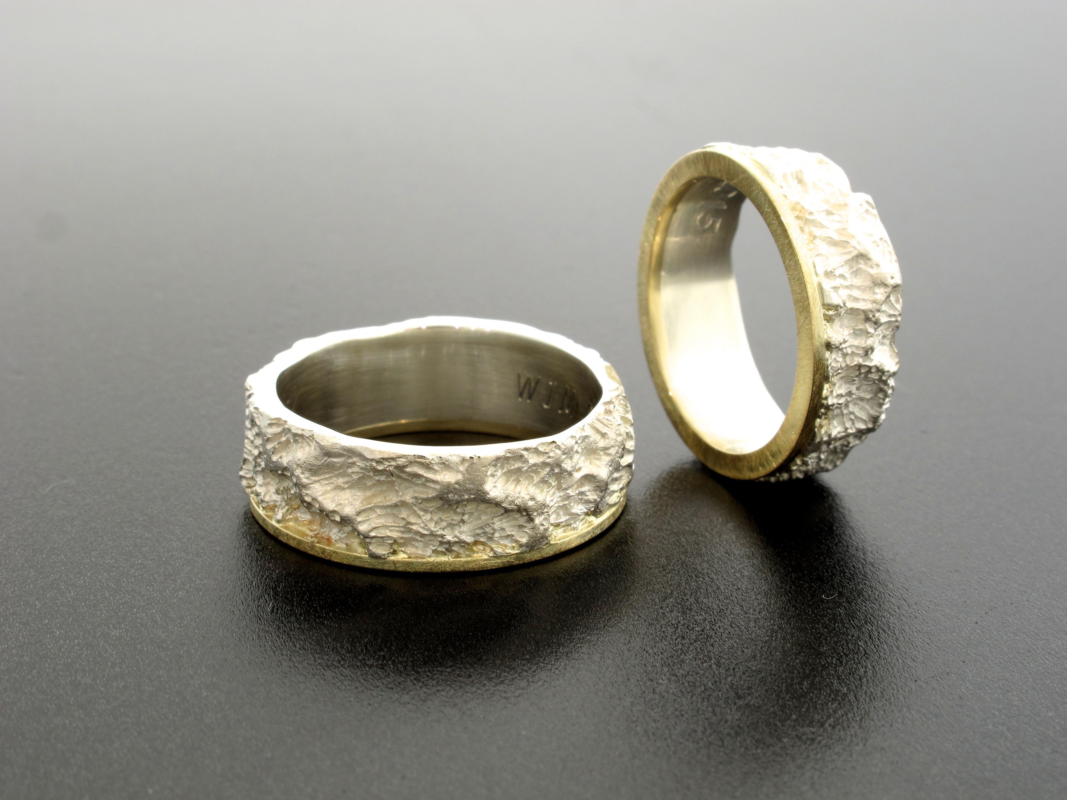 geelgoud en zilver