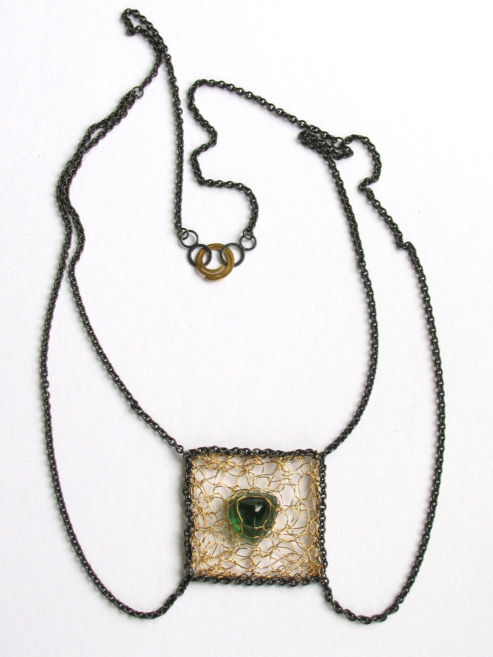 collier amulet tourmaline necklace