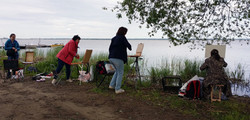 Пленэр на озере Неро