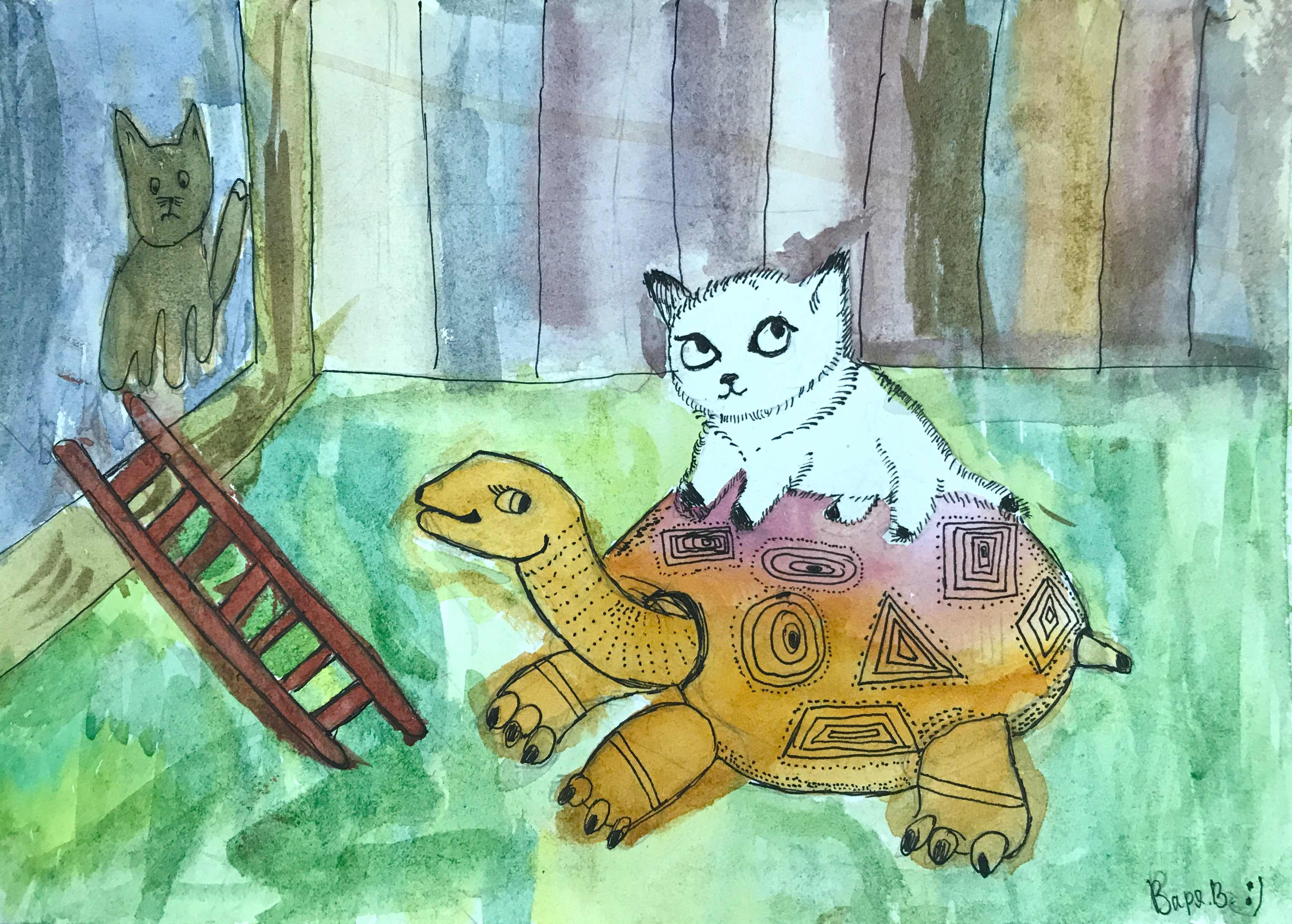 14 Виноградова Варвара Катание кота