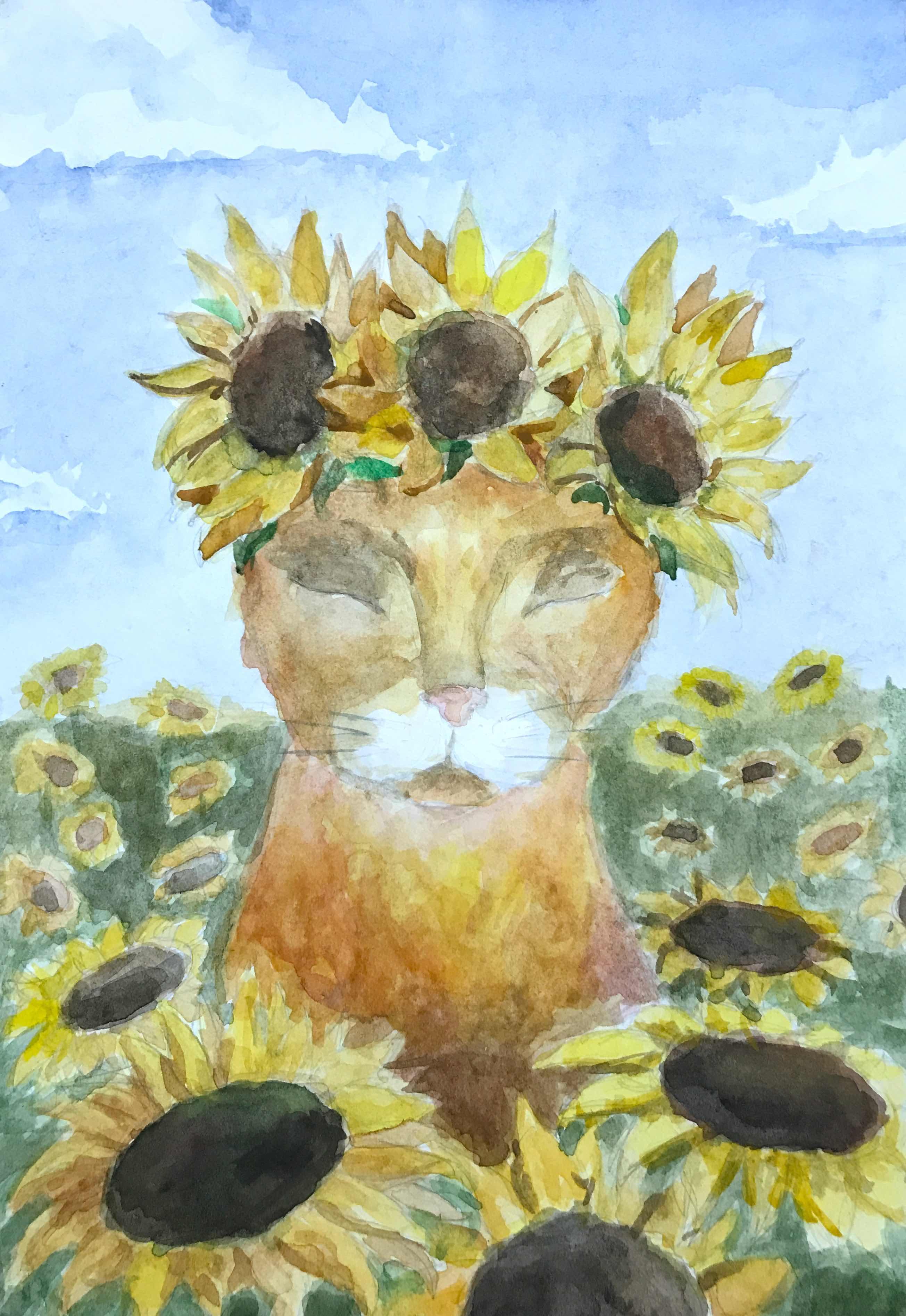15 Коршунова Анастасия Летний кот