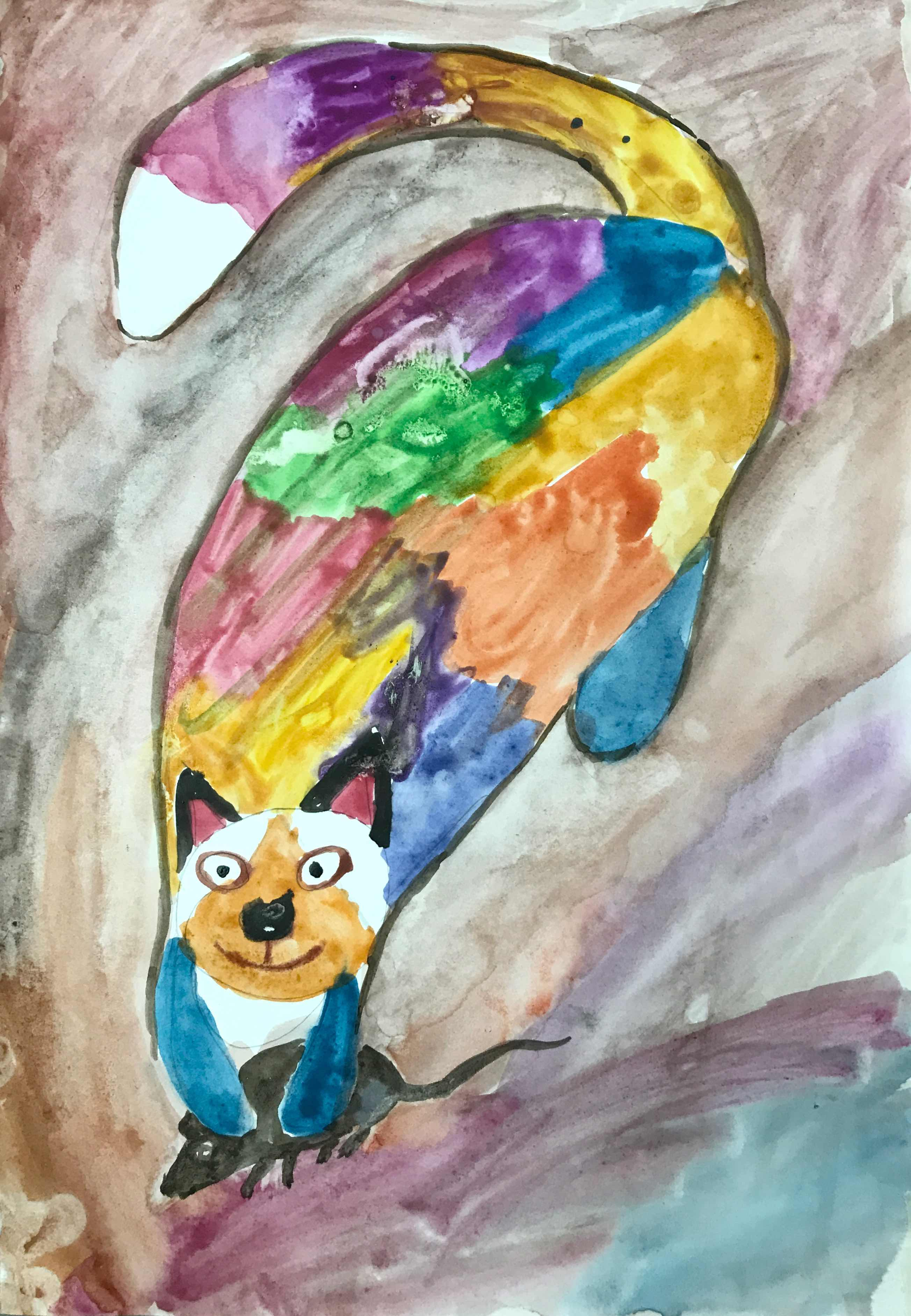 9 Коршунова Елизавета Радужный кот