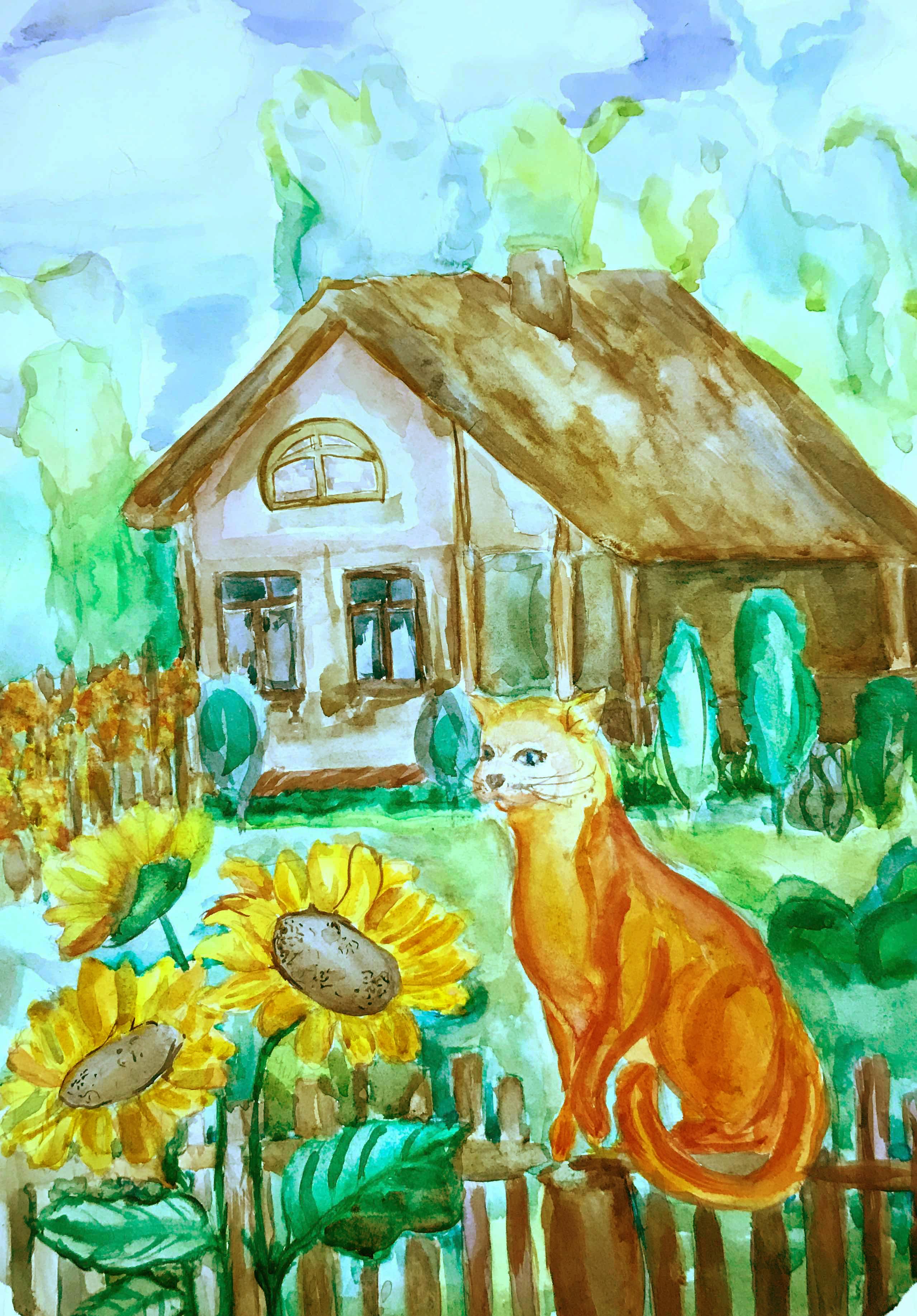 12 Комаровская Элина Летний кот