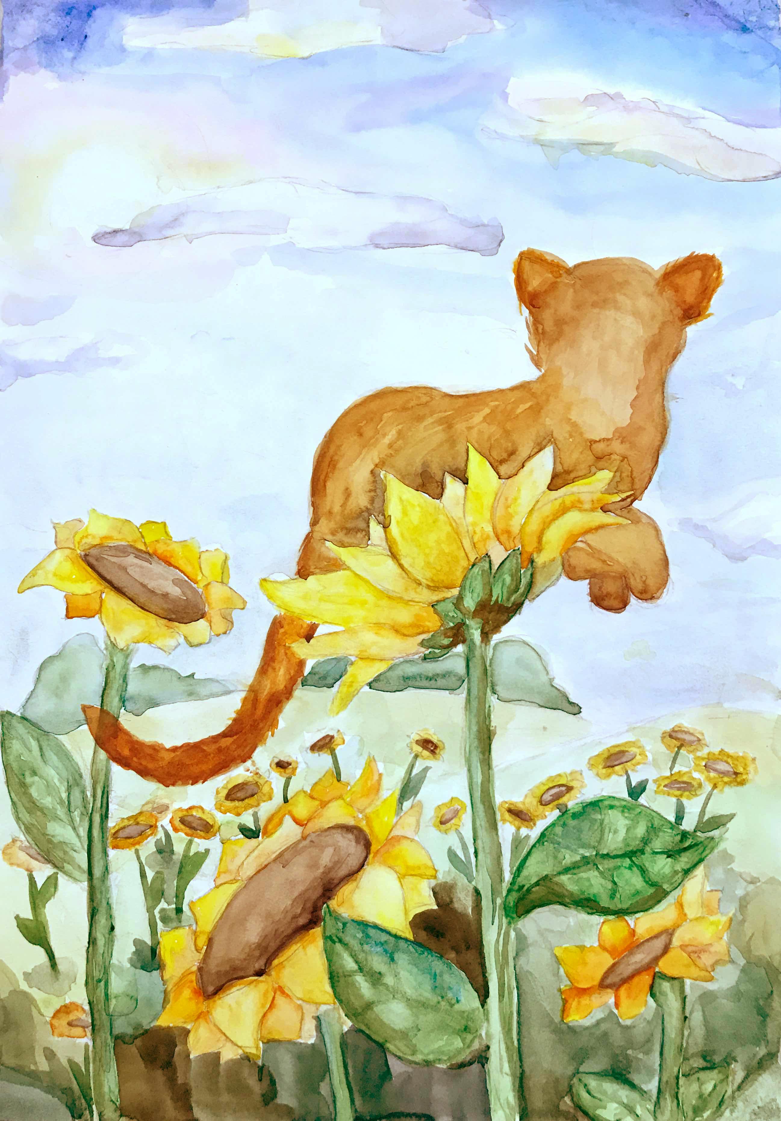 13 Шаталова Арина Летний кот