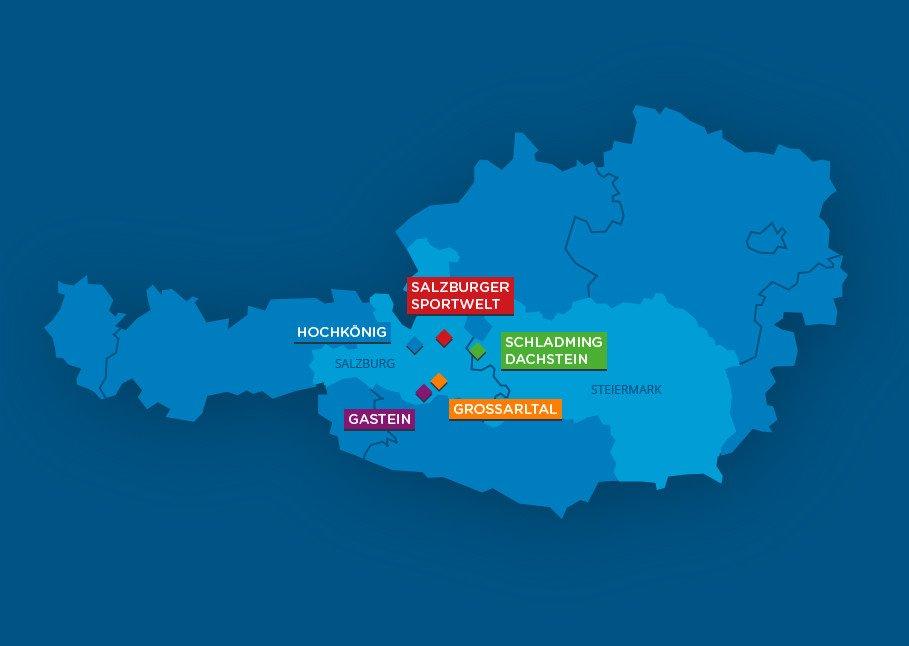 ski amade regionen-map