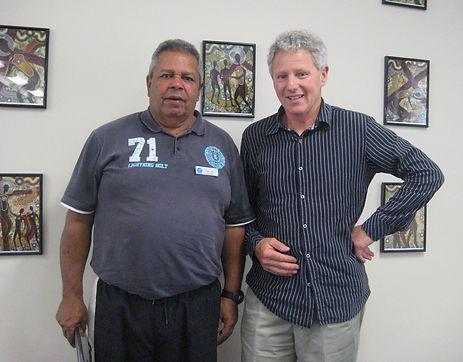 Vietnam veteran Eric Law and Steve Sailah in Murgon