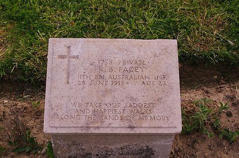 Roy Facey gravestone Gallipoli